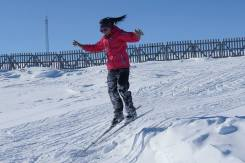 Getting air was a big hit with many of the skiers.